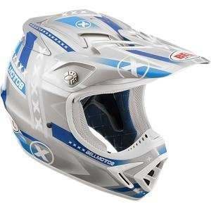 Bell Moto 8 Factory X Helmet   Large/Blue/Grey: Automotive