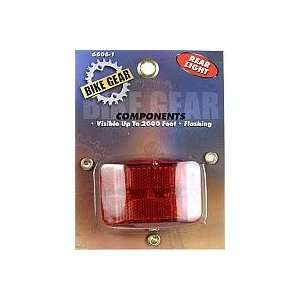 Bike Gear Rear Light   Flashing L.E.D Safety Light # 6606