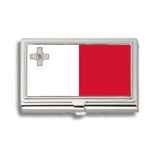 Malta Maltese Flag Business Card Holder Metal Case