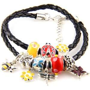 Royal Diamond Butterfly Pandora Style Fashion Designer Charm Bracelet