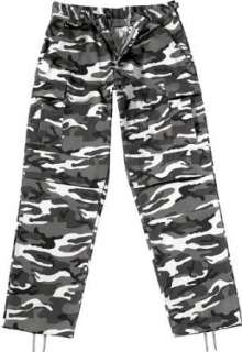 Camouflage Military BDU Pants, Army Cargo Fatigues