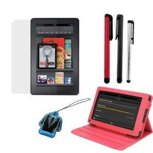 EveCase Hot Pink Premium Leather Carrying Cover Case Folio