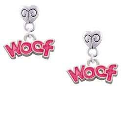 Glitter Woof Mini Heart Charm Earrings [Jewelry] Jewelry