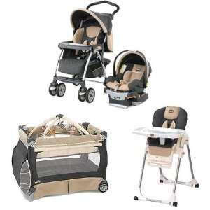 Chicco HAZKIT Matching 22lb Stroller System High Chair and Play Yard