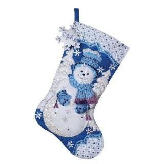 Bucilla Snowman & Friends Stocking Felt Applique Kit 18