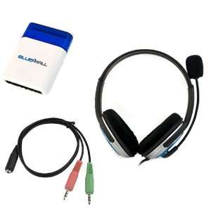 Black/Blue Microphone Headset + Cellphone/Smartphone Headset to PC