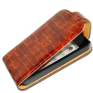Cool Crocodile PU Leather Case Cover For Apple iPhone 4 4G