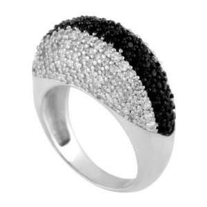 , Crafted with High Quality Round Cut Black and Diamond Color Cubic