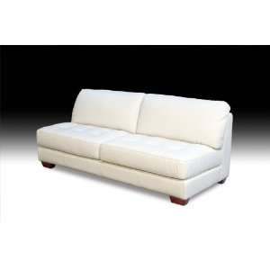 Zen Collection Armless All Leather Tufted Seat Sofa By Diamond Sofa