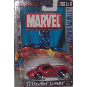 Marvel 57 Chevrolet Corvette 164 Scale Diecast Car Toys & Games