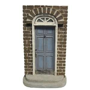 Enchanted Fairy Door   6 Panel Blue Door On Brick House