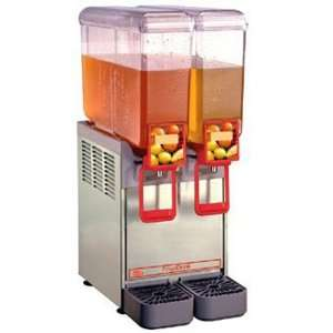Cold Beverage Dispenser, 2 Bowl, 110v