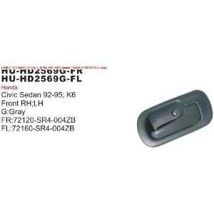 92 95 HONDA CIVIC INSIDE DOOR HANDLE FRONT LEFT (DRIVER SIDE) SEDAN w
