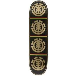 ELEMENT Skateboards SKATEBOARD DECK RASTA QUADRANT 7.87