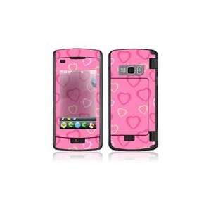 LG enV Touch VX11000 Skin Decal Sticker   Pink Hearts