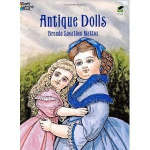 Antique Dolls (Dover Fashion Coloring Book) [Paperback