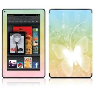 Butterfly Design Decorative Skin Decal Sticker for  Kindle Fire
