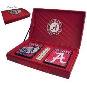 Alabama Crimson Tide Gift Box Set  playing Cards & Dice