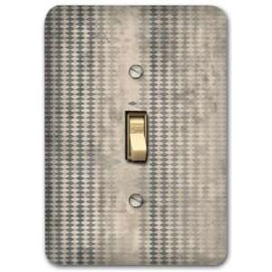 Gray Diamond Contemporary Metal Light Switch Plate Lighting Fixture