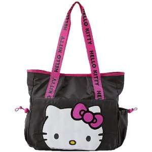 Sanrio Hello Kitty Front Flap Black Tote Bag