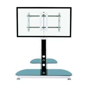 45 TV Stand in Black with Universal Flat Screen Mount