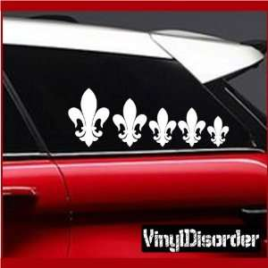Family Decal Set Fleur De lis Stick People Car or Wall Vinyl Decal