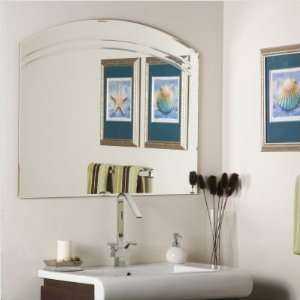 Arched Multi Bevel Frameless Wall Mirror