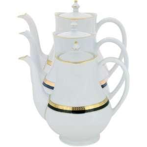 Haviland Symphony Gold and Blue Coffee Pot (Large) 42oz