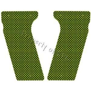 Carbon Fiber Custom Paintball Grips   Lime Green