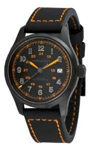 H70585737 Khaki Field Black Day Date Dial Watch Hamilton Watches