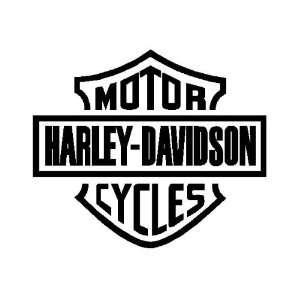Harley Davidson Sticker   black in color