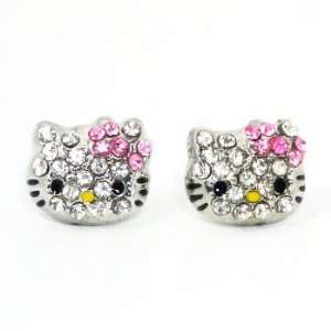 Hello Kitty Stud Crystal Earrings Toys & Games
