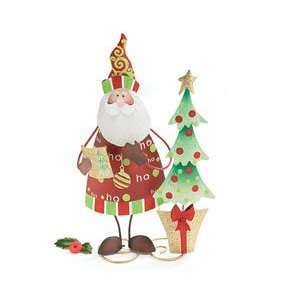 Christmas Compromise Santa Tree Figurine Christmas Tin