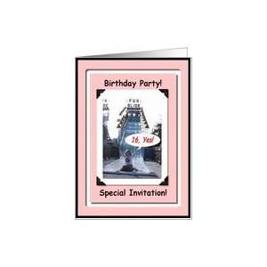 Age 16 Kid Birthday Party Invite Card Toys & Games