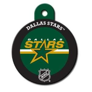 Dallas Stars Round Pet ID Tag with laser engraving