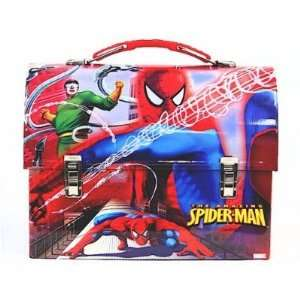 Vs. Doctor Octopus Red Kids Metal Tin Lunch Box