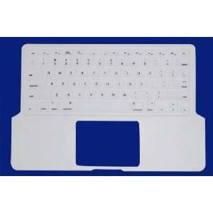 White Preprint Silicone Keyboard Cover for Aluminum Unibody Macbook