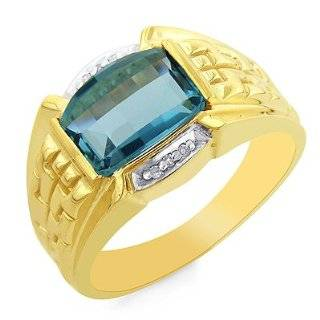 Gold Gray Cats eye Diamond Accented Mens Ring size 10.5 Jewelry