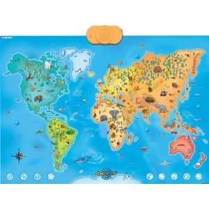 Animap   Interactive Talking Animals of the World Map Toys & Games