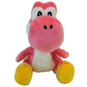 Super Mario Bros. Nintendo Wii 6 Inch Plush Pink Yoshi