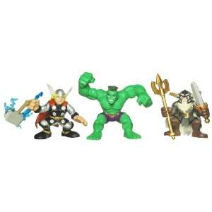 Marvel Super Hero Squad Movie Pack With Thor Hulk And Odin  Toys