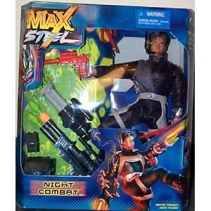 Max Steel Night Combat Set w/ Figure Toys & Games