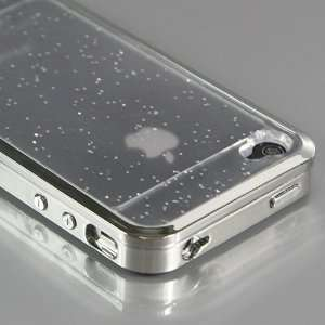 Silver Classical Glow Plastic and Metal Hard Case Cover for iPhone