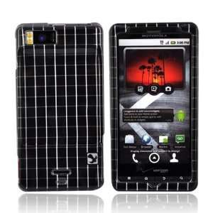 For Motorola Droid X Hard Case Cover BLACK SILVER