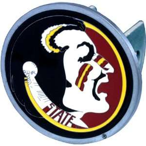 Florida State Seminoles NCAA Pewter Trailer Hitch Cover by