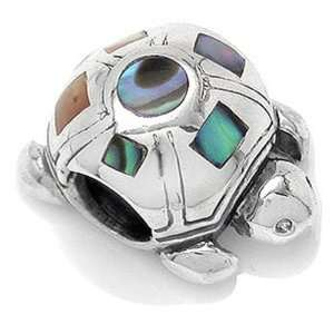 TURTLE Abalone Animal Solid Sterling Silver Fits European