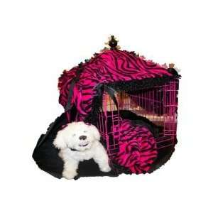 Wild Pink Zebra Crate Cover with Matching Bed