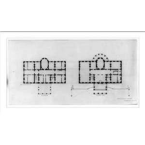 House (Executive Mansion) D.C. Principal floor plan]