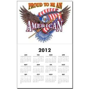 Calendar Print w Current Year Proud To Be An American Bald Eagle and