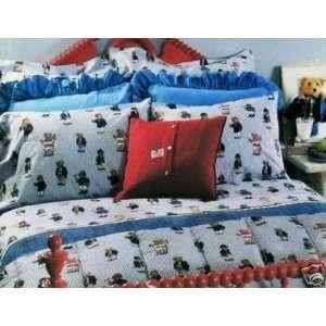 Ralph Lauren Teddy Bear Stripe King Flat Sheet Bears